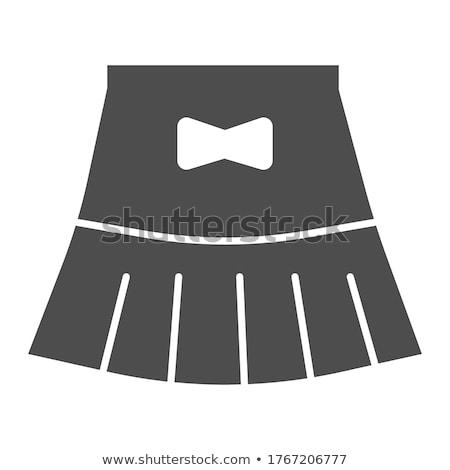 Minirok icon vrouw store rok gordel Stockfoto © Myvector