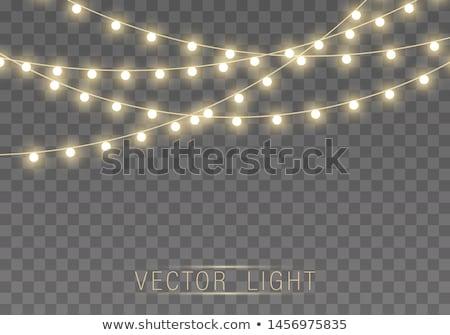подвесной фары прозрачный вечеринка стекла ночь Сток-фото © chrisbradshaw