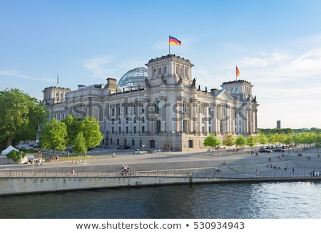 Berlin parlement ville ciel bleu architecture Photo stock © janhetman