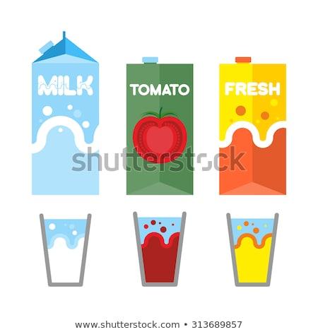 Papel en blanco cartón leche jugo de fruta ilustración papel Foto stock © alexmillos