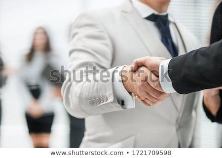Mulher de negócios cego lata não ver mulher Foto stock © jayfish