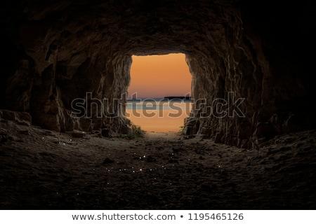 Subterrâneo túnel água passagem reparar construção Foto stock © tashatuvango