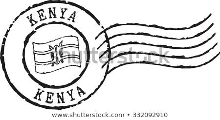 Stock fotó: Posta · bélyeg · Kenya · nyomtatott · évforduló · papír