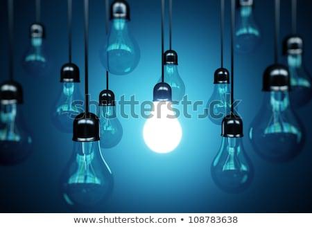 Blauw gloeilamp glas achtergrond lamp energie Stockfoto © hussain_al-king