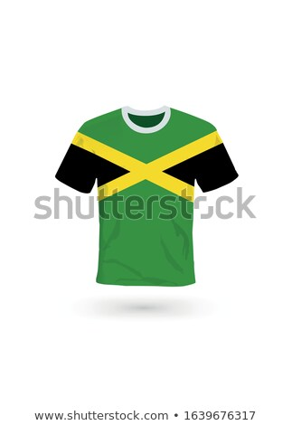 Flag of jamaica with football in front of it Stock photo © MikhailMishchenko