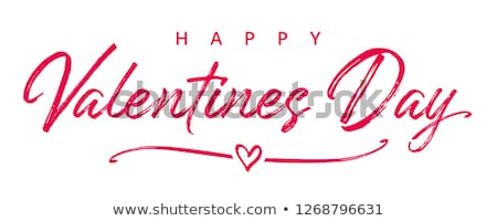 Beautiful elegant text design for Happy Valentine's Day letterin Stock photo © bharat