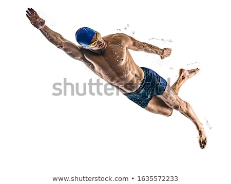 пловец студию человек плавать полотенце спортсмена Сток-фото © nickp37