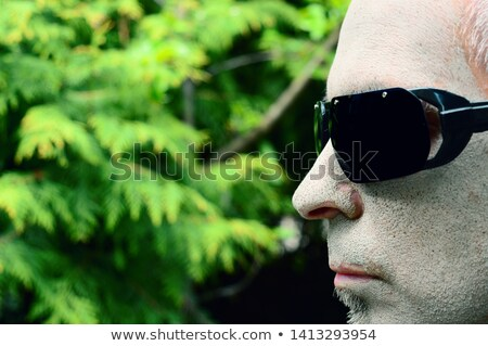 Portré érett katona visel napszemüveg fekete Stock fotó © AndreyPopov
