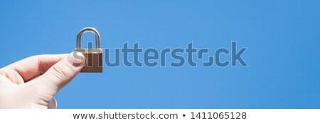 Hand holding padlock Stock photo © stevanovicigor