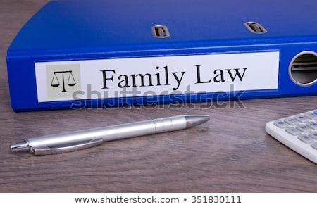 Folderze etykiety rozwód ceny pióro para Zdjęcia stock © Zerbor