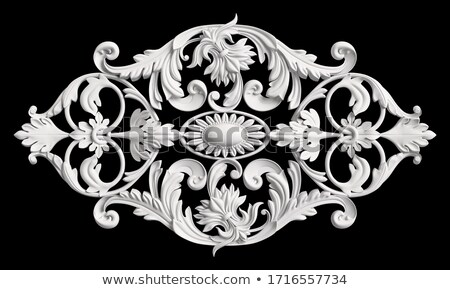 Foto stock: 3D · ornamento · símbolo · vermelho · preto
