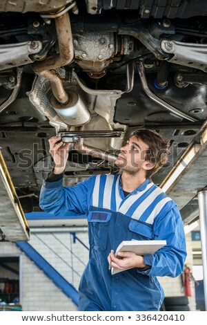 Garage exhaust system check Stock photo © runzelkorn