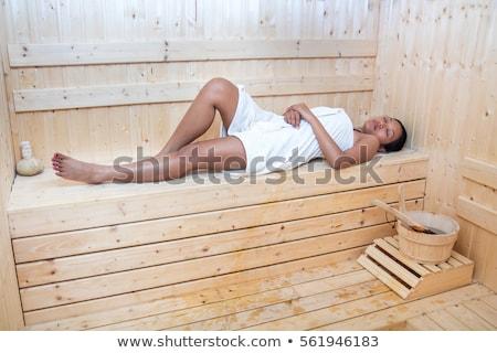 mulher · robe · adormecido · mulher · jovem - foto stock © candyboxphoto