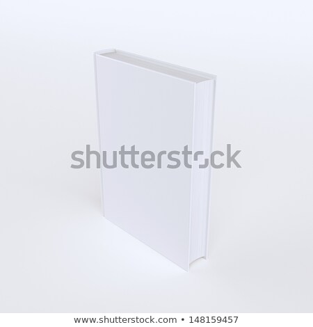 one book isolated on white advertising picture second version stock photo © vizarch