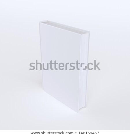Um livro isolado branco publicidade quadro Foto stock © vizarch