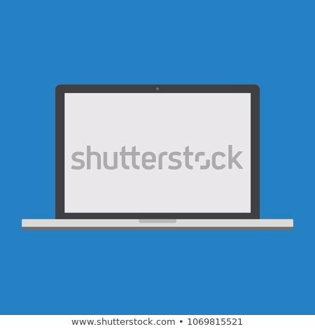 Computador preto tela vetor eps10 escritório Foto stock © MPFphotography