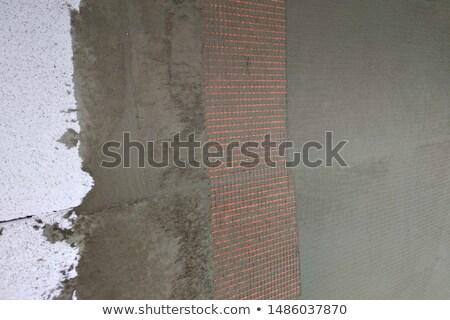 Fal szigetelés tapasz háló közelkép rétegek Stock fotó © simazoran