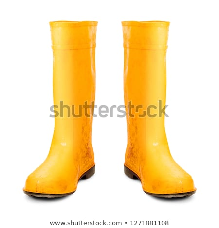 rubber boot yellow color Stock photo © FrameAngel