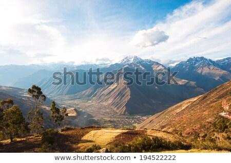 Vale campo de trigo Peru estrada céu Foto stock © xura