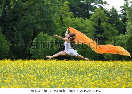 Agilis nő levegő sál mezítláb fürtös Stock fotó © smithore