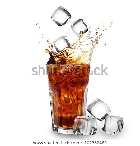 A glass of fresh cola drink with ice Stock photo © punsayaporn