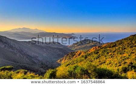 ortaçağ · köy · Toskana · İtalya · ev · duvar - stok fotoğraf © antonio-s