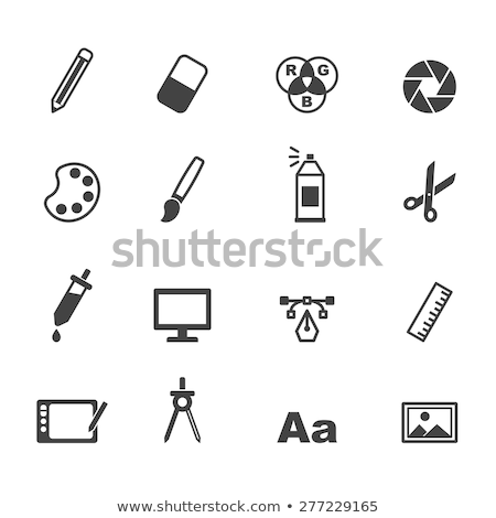 design icons and elements isolated on white stock photo © lordalea
