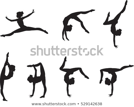 acrobats silhouettes stock photo © Slobelix