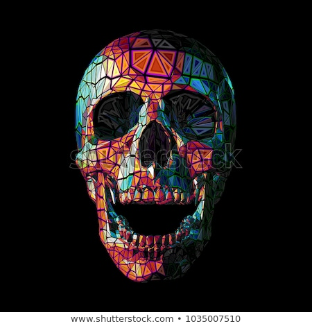 Funny Schädel Muster Knochen hellen grünen Stock foto © oblachko