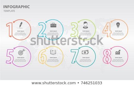cool · iconen · nummers · ontwerp · papier - stockfoto © vipervxw