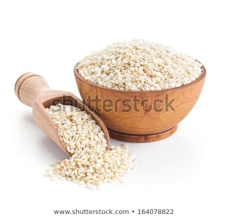 cuchara · de · madera · ingredientes · edad · comida · vegetariana · salud · cocina - foto stock © zerbor