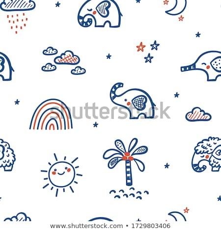 outline elephant stars and stripes stock photo © patrimonio