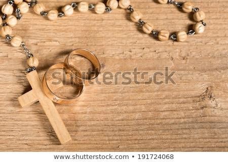 Rosary and weding rings Stock photo © hraska