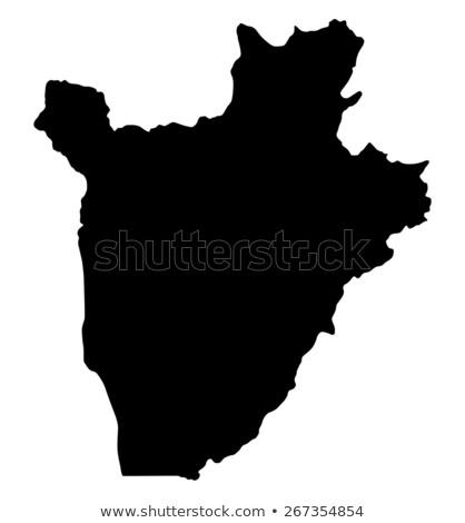 Mapa Burundi diferente branco viajar Foto stock © mayboro1964