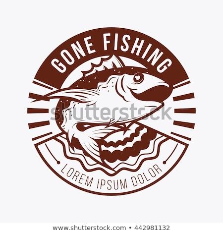 Illustration thon poissons vecteur version détaillée Photo stock © Slobelix