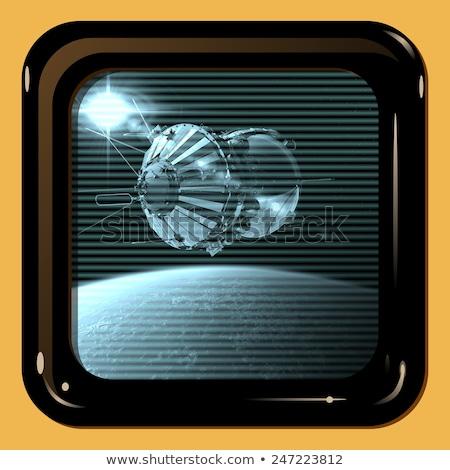 Retro Tv Display With First Spaceship Stock fotó © Mechanik