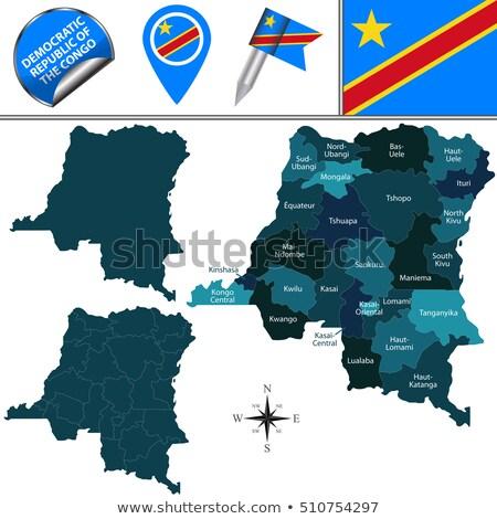 harita · demokratik · cumhuriyet · Kongo · bayrak · seyahat - stok fotoğraf © istanbul2009