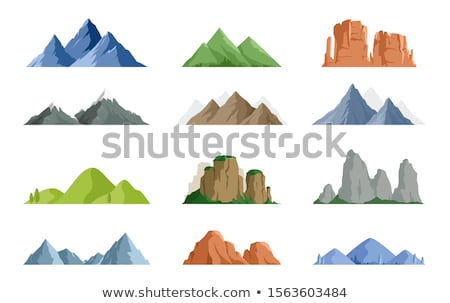 символ гор стилизованный природы путешествия альпинизм Сток-фото © tracer