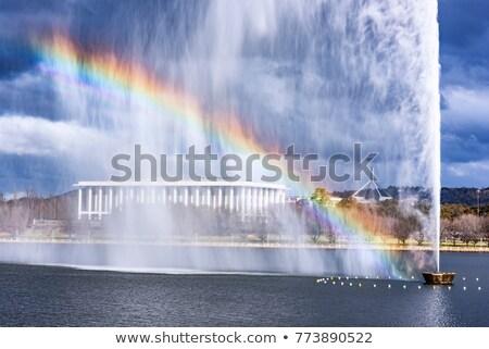 Cozinhar fonte Canberra Austrália água cidade Foto stock © raywoo