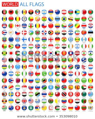Düğme simge Amerika bayrak harita beyaz Stok fotoğraf © mayboro1964