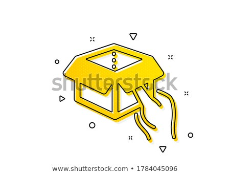 Delivery Flat Circle Icon Hand holding Package Stock photo © Anna_leni
