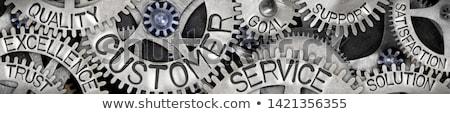 serviços · manutenção · o · homem · 3d · empurrando · chave · inglesa · ilustração · 3d - foto stock © tashatuvango