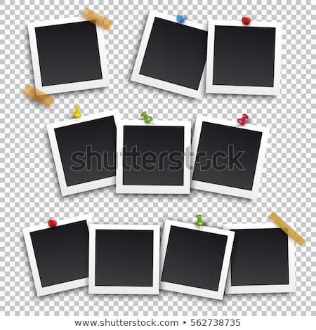 scrapbook · fotó · keret · szett · izolált · fából · készült - stock fotó © captainzz