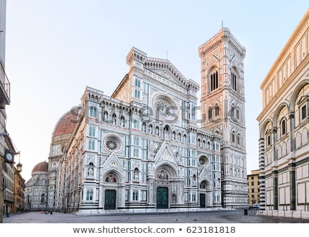 Floransa katedral Bina seyahat mimari Toskana Stok fotoğraf © LianeM