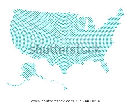 Pokaż USA Alaska kropka wzór wektora Zdjęcia stock © Istanbul2009