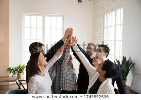 üzletemberek kezek különböző iroda tevékenységek felső Stock fotó © robuart