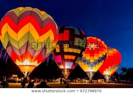 Sıcak hava balon güzellik gemi kırmızı Stok fotoğraf © slunicko