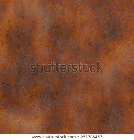 Métal texture vieux sale brun cadre Photo stock © blumer1979
