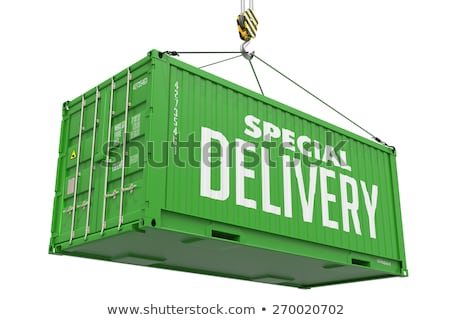 Special Delivery -Green Hanging Cargo Container. Stock photo © tashatuvango