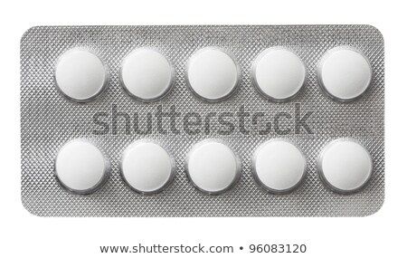 Grey box with white pills blister pack Stock photo © ironstealth